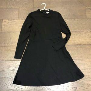 H&M Women's black basic knit dress Sz L